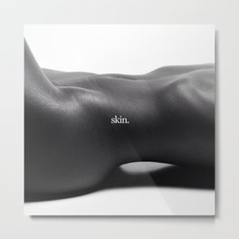 The Female Body in Repose; Reclining Nude black and white photography - photograph Metal Print