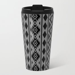 Aztec Essence Ptn III Black on Grey Travel Mug