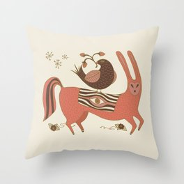 All Seeing Beast of Burden Throw Pillow