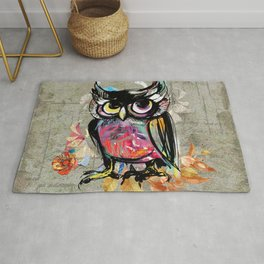 Colorful Wise Owl Rug