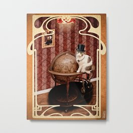 Homaï, steampunk cat Metal Print