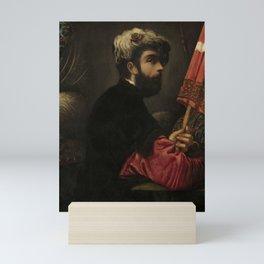 "Tintoretto (Jacopo Robusti) ""Portrait of a Man as Saint George"" Mini Art Print"