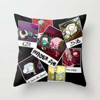 invader zim Throw Pillows featuring Invader Zim Photo Collage by kltj11