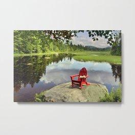 Adirondack Chair, Meacham Inlet Metal Print