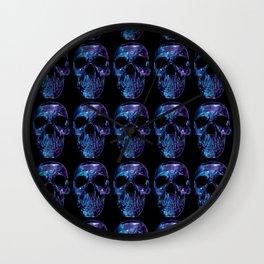 Polygon Skull Armageddon - Blue / Purple  Wall Clock