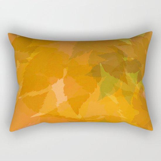 Autumn leaves pastel Rectangular Pillow