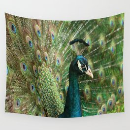 Peacock Portrait Wall Tapestry