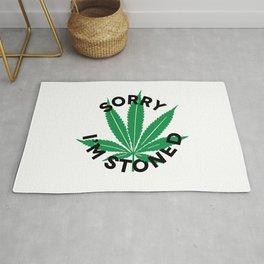 Sorry I'm Stoned | 420 Smoke Weed Gift Idea Rug