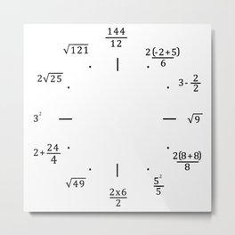 Math Clock - Clock Only Metal Print