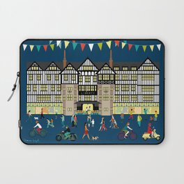 Art Print of Liberty of London Store - Night time Laptop Sleeve