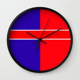 Team colors 6...red,blue Wall Clock