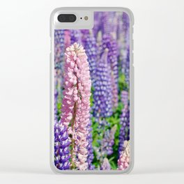 Lupins, Lake Tekapo Clear iPhone Case