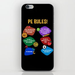 PE Physical Education Teacher Rules iPhone Skin