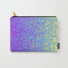 Purple Lilac Yellow Pixilated Gradient Carry-All Pouch