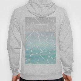 Soft Teal Gray Watercolor Geometric Glam #1 #geo #decor #art #society6 Hoody