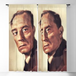 Buster Keaton, Vintage Actor and Comedian Blackout Curtain