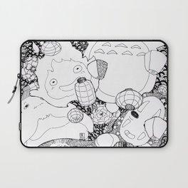 Ghibli-Inspired Collage Laptop Sleeve