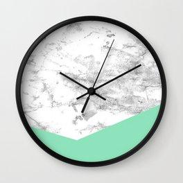 Geometric Watercolour Marble Wall Clock