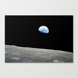 Earth from Moon Canvas Print