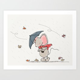 Little Mouse - Autumn Art Print