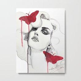 Arrogant Red Metal Print