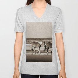 Horses of OBX Unisex V-Neck
