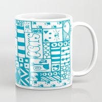 because cats Mugs featuring Because Cats by Lizzy East