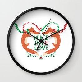 Peace, Joy, Love Wall Clock