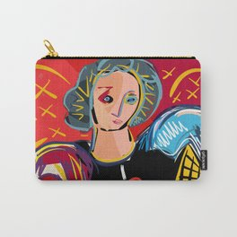 "Portrait of a girl with a shirt ""I Love Matisse"" Carry-All Pouch"