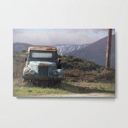 Oldtimer at Meteora Metal Print