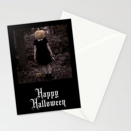 """""""Carving Heads"""" Happy Halloween Stationery Cards"""