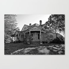 House on the Hill in Black and White Canvas Print