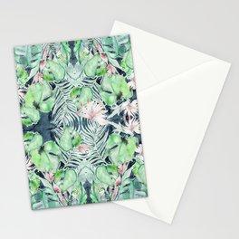 Dark Tropics Pattern by Kristen Baker Stationery Cards