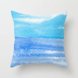 Bright Blue Day Throw Pillow