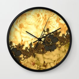 Wonderful flowers, yellow colors Wall Clock