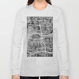Quad Cities Street Map Long Sleeve T-shirt