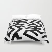 twins Duvet Covers featuring Twins by muchö