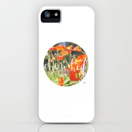 Cherished - Botanical  |  The Dot Collection iPhone Case