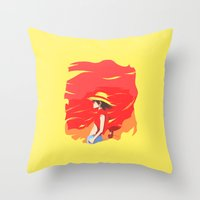 luffy Throw Pillows featuring Monkey D Luffy by Senior-X