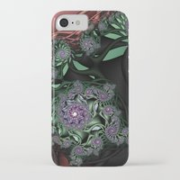 novelty iPhone & iPod Cases featuring Lilac Fractal Garden by Moody Muse