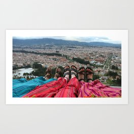 Sandals above the city Art Print