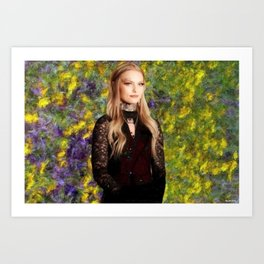 Portrait of Daisy Coleman ;  Victims Rights Advocate; Boycott Maryville Art Print