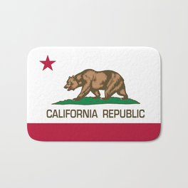 California Republic Flag - Bear Flag Bath Mat