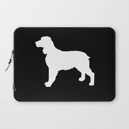 English Springer Spaniel dog breed pet art dog silhouette unique dog breeds black and white Laptop Sleeve