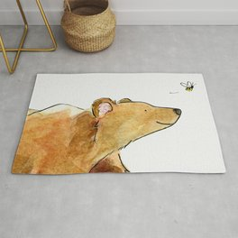 Bear & Bee Watercolor Rug