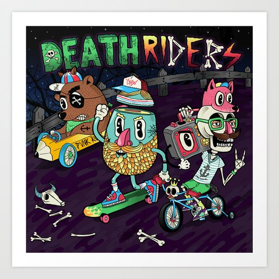 Death Riders Art Print