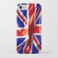england iPhone & iPod Cases featuring England Flag by Fine2art