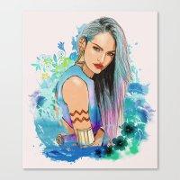 aquarius Canvas Prints featuring Aquarius by Sara Eshak