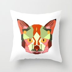 this is a cat. Throw Pillow