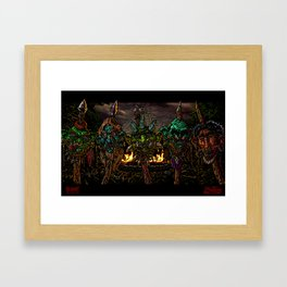 Honey, I Shrunk the Heads Framed Art Print